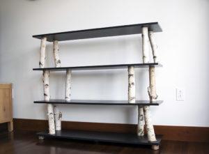 Birch Log Bookcase Galactic Studios